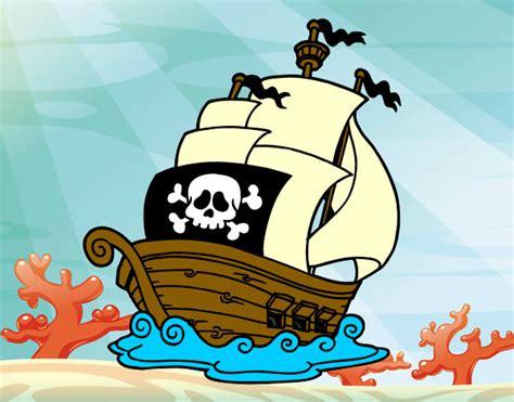 barcos piratas dibujos animados dibujo de barco pintado por joel10206 en dibujos net el