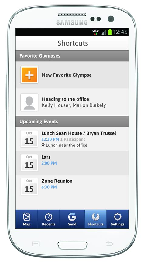 glympse android glympse gets major update and adds glympse groups calendar integration and where are you