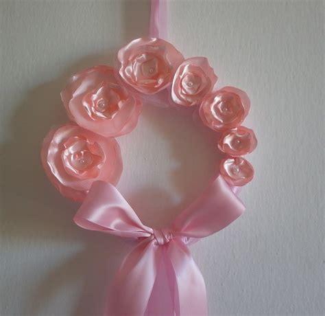 fiori con nastri coccarda fiocco nascita rosa con fiori bambina bimba