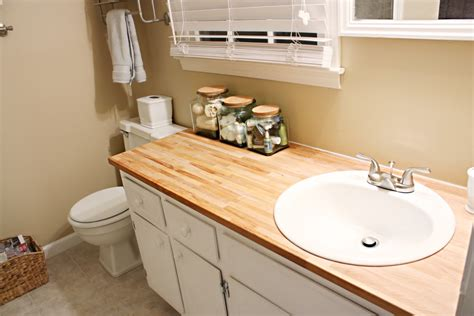 wood countertop bathroom interior design for hot mess makeover bower power in