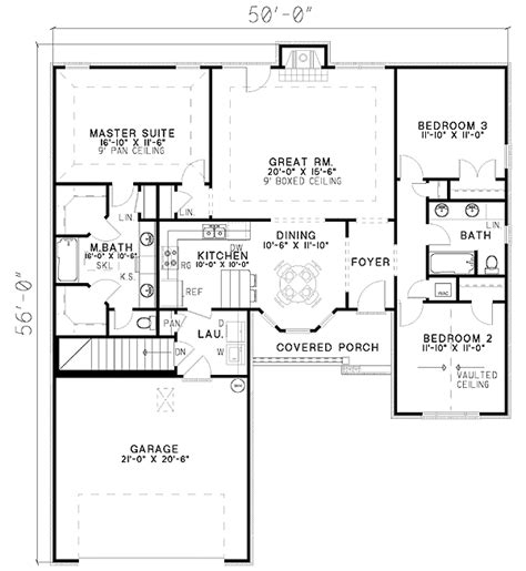 split bedroom house plans split bedroom house plan 59402nd architectural designs