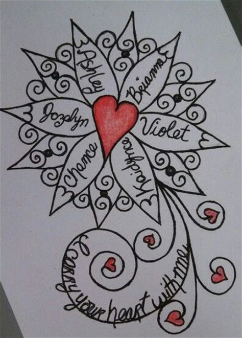tattoo ideas for grandchildren names sketch for a tattoo for forearm it incorporates the names