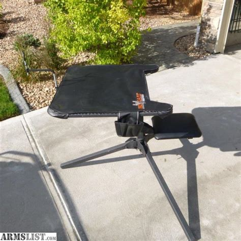 swivel shooting bench armslist for sale big game treestands the swivel action shooting bench