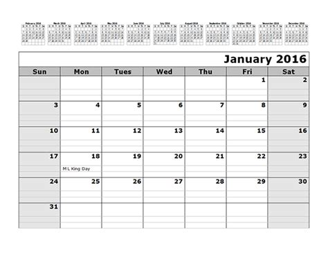 monthly calendar template   months  top  printable templates