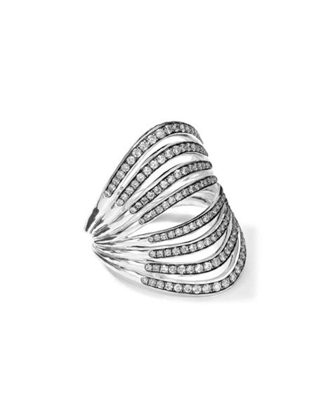 ippolita sterling silver multi band ring with diamonds 0