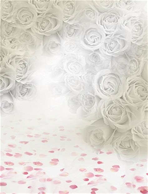 Wedding Background Tile by White Background For Photo Studio Pink Flowers Vinyl