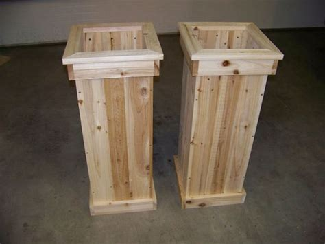 wooden planter plans 70 diy planter box ideas modern concrete hanging pot