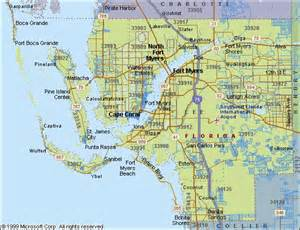 southwest florida map with cities