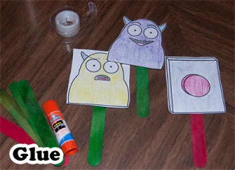 dont push  button stick puppet activity  tucson