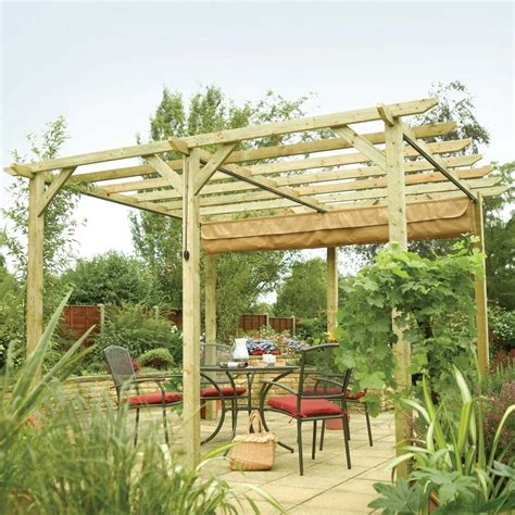 garden awning uk 12 10 quot x 11 11 quot ft 3 9 x 3 6m retractable 6 post wooden