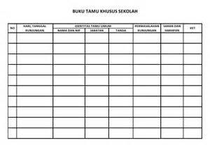 buku tamu khusus sekolah sekolah dasar negeri 125543