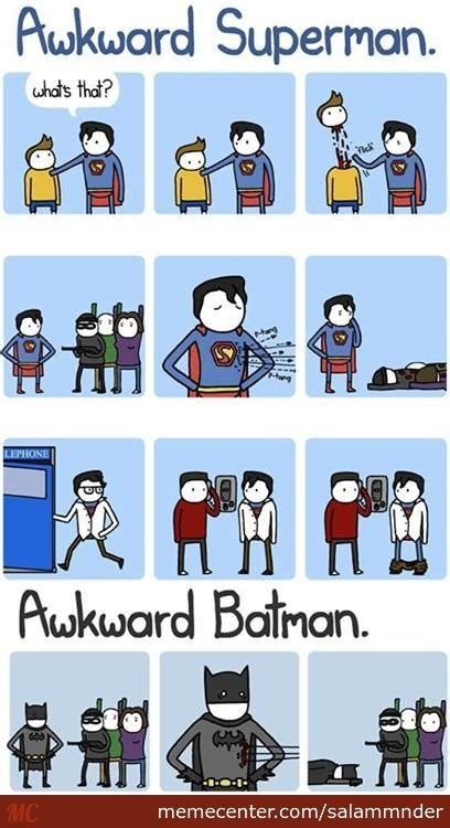 Superman Better Than Batman Memes - awkward superman vs awkward batman by salammnder meme center