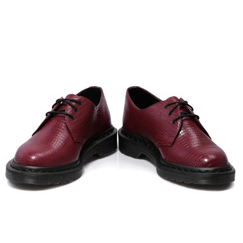 oxblood shoes dr martens 1461 lizard oxblood mens womens smart