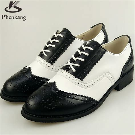 womens vintage oxford shoes genuine leather flat shoes sping vintage