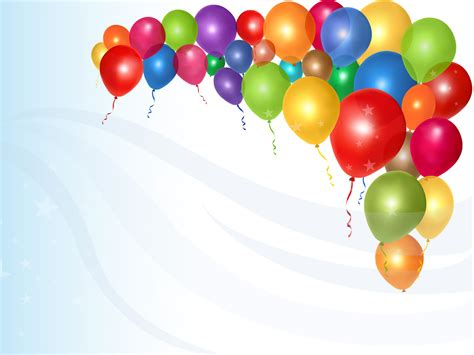 Shiny colorful balloons ppt backgrounds blue design green holiday orange purple red