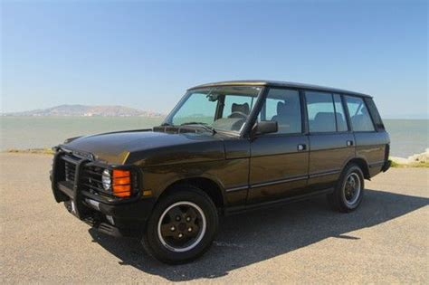 sell   land rover range rover lwb mosswood green  air suspension calif car  san