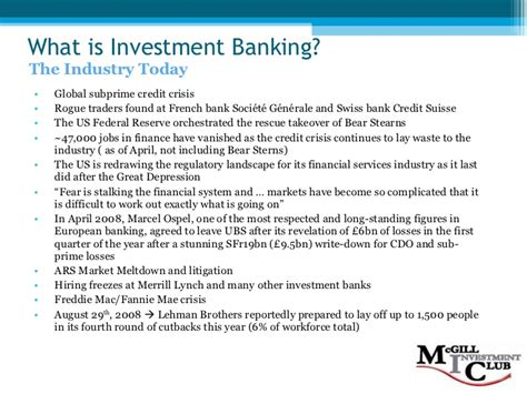 What Is Investment Banking Ppt Investment Banking 101 F08