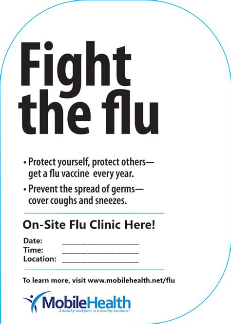Flu Clinic by Healthy Dating Posters Cameramemo