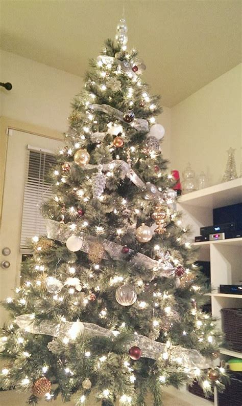 christmas tree with silver decorations memes