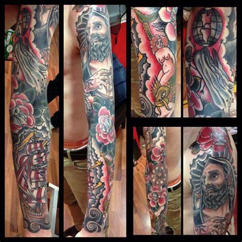 old school tattoo arm sleeve image gallery old school sleeve tattoos