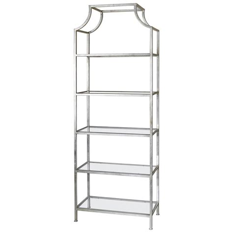 etagere in silber garbo regency silver leaf 5 tier iron etagere