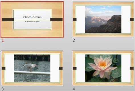 Apply Theme To Photo Album Presentations In Powerpoint 2013 Windows Powerpoint Tutorials Photo Album Powerpoint Template