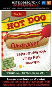 bbq fundraiser flyer template bbq picnic event poster flyer or ad picnics