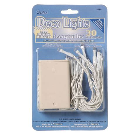 deco lights brown wire 20 light strand clear led 2 function white wire deco
