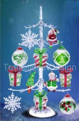 table top christmas tree in pleiglass with falling snow acrylic tree ebay