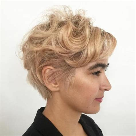 pixie cuts cherry brown and blonde 30 standout curly and wavy pixie cuts