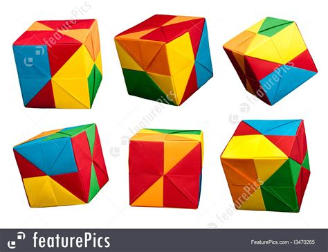 Origami Style - image of paper cubes folded origami style
