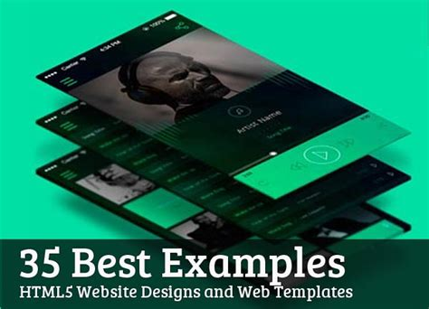 Html5 Website Designs And Web Templates 35 Best Exles Html5 Css3 Design Blog Interactive Html5 Website Templates