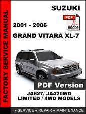 suzuki grand vitara xl7 2001 2002 2003 2004 2005 2006