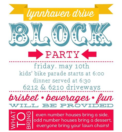 block template flyers free planning summer block invitations