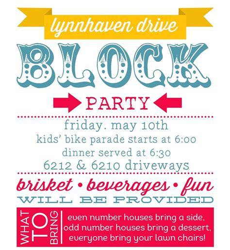 block template flyer planning summer block invitations