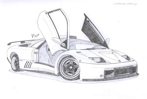 lamborghini sketch easy image gallery lamborghini drawings