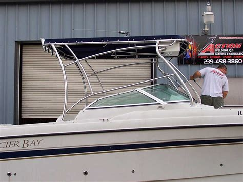 boat windshield hardtop custom half tower tops for walk arounds walk thru boats