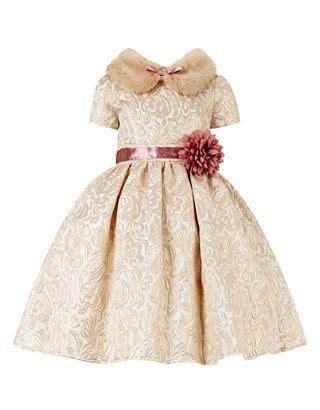 Dress Ribbon Kiddy Dress Dress Anak Dress Ulang Tahun Baju Murah 1 reece fur collar jacquard dress gold monsoon fancy kiddie stuff