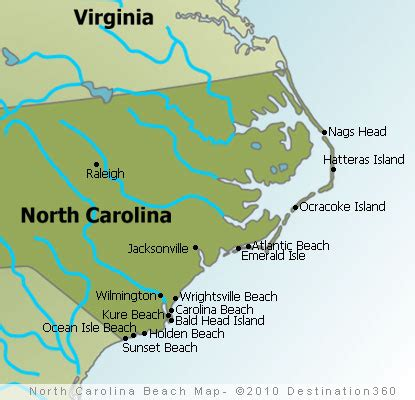and south carolina beaches map carolina beaches map outer banks beaches map