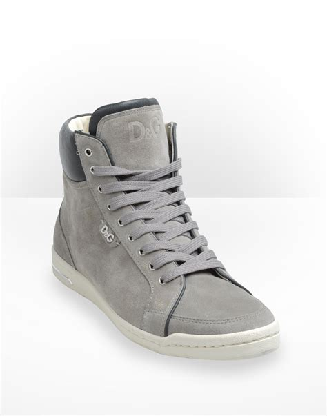 High Top Sneakers d g women s grey high top sneakers polyvore