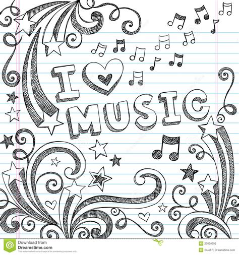 doodle on a picture sketchy notebook doodles vector illustration stock