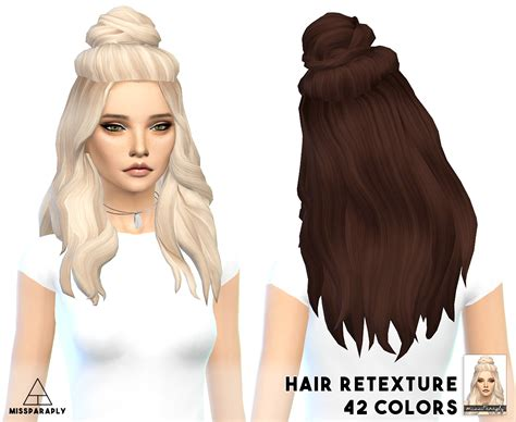 sims 4 half have hair sims 4 hairs miss paraply vellichor hairstyle retextured