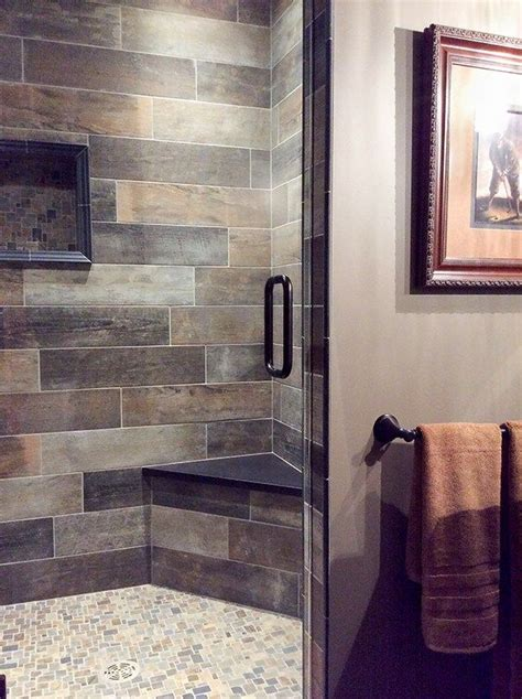 warm bathroom tiles decorating with brown and gray a pairing that may