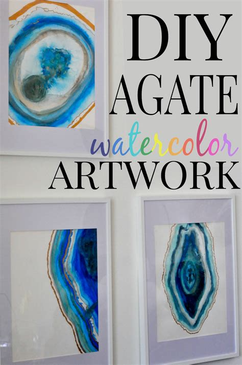 watercolor diy diy agate watercolor artwork home