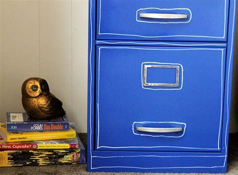 Paint a File Cabinet Blue: $5 Revamp » Dollar Store Crafts