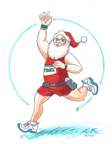 imagenes de santa claus haciendo ejercicio the runner s 12 days of christmas 2princessesontherun