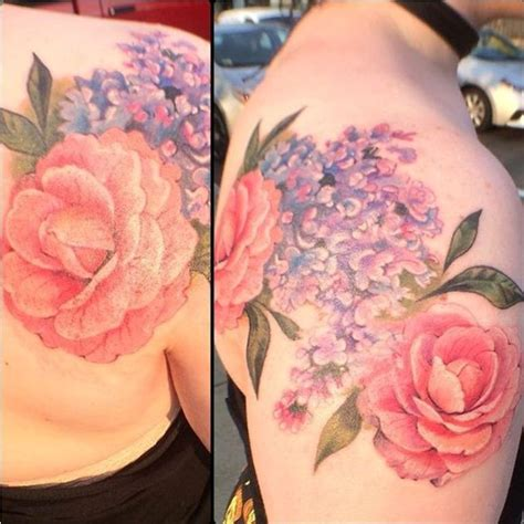 intertwined rose tattoos lilac tattoos tattoofanblog