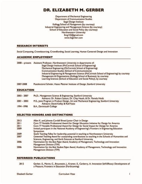 Resume Template In Pdf Format exles of cv engineering