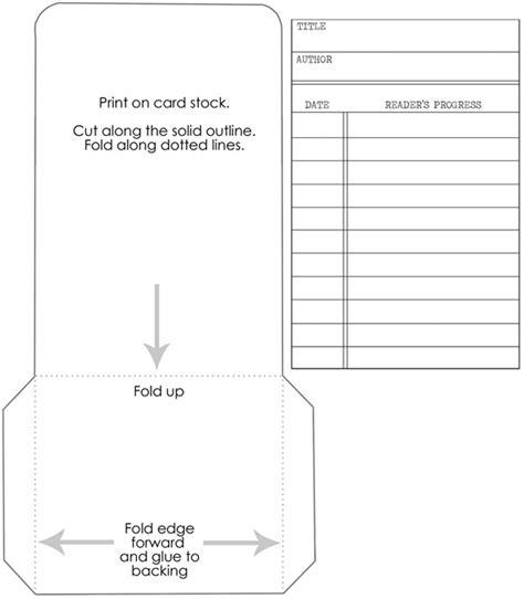 fashioned library checkout card template library cards track your kid s reading progress free