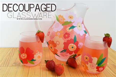 how to decoupage on glass easy fall decor decoupage on glass pitchers and
